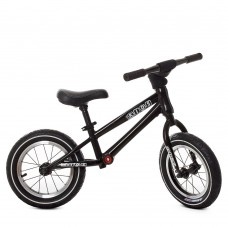Біговел Profi надувні колеса 12 дюймів з підшипником, регульоване сидіння по висоті, сталева рама, чорний