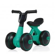 Беговел Толокар для малышей от 1.5 лет со светящейся фарой и музыкой, диаметр колес 17см, зеленый 56х29х39см