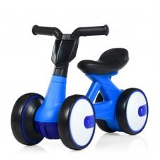 Беговел Толокар для малышей от 1.5 лет со светящейся фарой и музыкой, диаметр колес 17см, синий 56х29х39см
