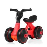 Беговел Толокар для малышей от 1.5 лет со светящейся фарой и музыкой, диаметр колес 17см, красный 56х29х39см