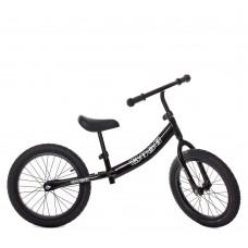Детский Велобег Беговел для детей Profi с регулировкой сиденья, стальная рама, колеса EVA 16 дюймов, черный
