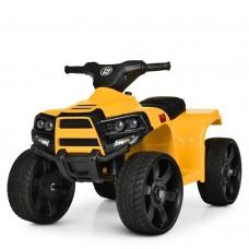 Дитячий Квадроцикл-електромобіль Bambi Racer, з музикою, фарами, що світяться, до 20 кг, 67х41х43 см, жовтий
