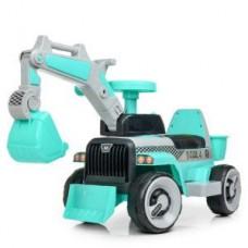 Детская Каталка Толокар Электромобиль с родительской ручкой, Трактор с ковшом на управлении арт. 4144-4