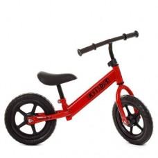 Детский Беговел для детей Profi стальная рама, регулировка сиденья по высоте, колеса EVA 14 дюймов, красный