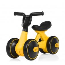 Беговел Толокар для малышей от 1.5 лет со светящейся фарой и музыкой, диаметр колес 17см, желтый 56х29х39см