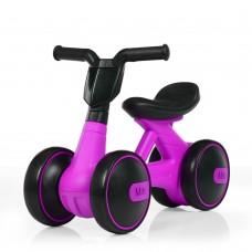 Беговел Толокар для малышей от 1.5 лет со светящейся фарой, музыкой, диаметр колес 17см фиолетовый 56х29х39см