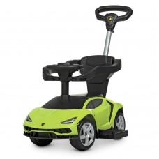 Детский Электромобиль Каталка-Толокар Bambi Porsche с музыкальной панелью и родительской ручкой, зеленый
