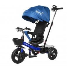 Велосипед Трехколесный с надувными колесами 8-10 дюймов, 2 тормоза, музыкальная панель - Tilly Melody синий*