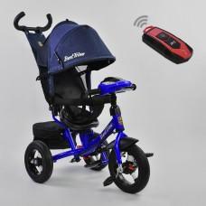 *Велосипед детский 3-х колёсный (надувные колёса, поворотное сидение, фара), Best Trike, синий арт. 7700-2280
