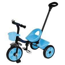 Детский Трехколесный Велосипед Гномик стальная рама, колеса EVA, родительская ручка, Motion СИНИЙ арт. 320