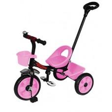 Детский Трехколесный Велосипед Гномик стальная рама, колеса EVA, родительская ручка, Motion РОЗОВЫЙ арт. 320