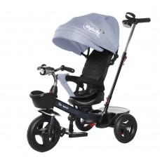 Велосипед Трехколесный с надувными колесами 8-10 дюймов, 2 тормоза, музыкальная панель - Tilly Melody серый*