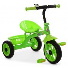 Велосипед Трехколесный Гномик: стальная рама, колеса EVA 8-10 дюймов, регулировка сиденья, зеленый - ProfiKids