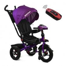 Велосипед детский 3-х колёсный (надувные колёса, поворотное сидение), BestTrike, сиреневый цвет арт. 6088-5525