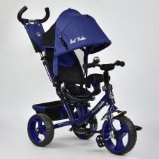 *Велосипед детский трёхколёсный с поворотным сиденьем и колесами  из пены, ТМ BestTrike, синего цвета арт. 6570