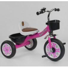 Детский Трехколесный Велосипед для детей Гномик со стальной рамой, колесами EVA, BestTrike розовый арт. 2806