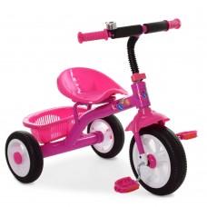 Велосипед Трехколесный Гномик: стальная рама, колеса EVA 8-10 дюймов, регулировка сиденья, розовый - ProfiKids