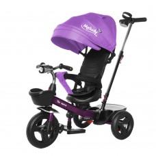 Велосипед Трехколесный с надувными колесами 8-10 дюймов, 2 тормоза музыкальная панель - Tilly Melody фиолетовый*