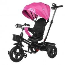 Велосипед Трехколесный с надувными колесами 8-10 дюймов, родительская ручка, 2 тормоза - Tilly Canyon малиновый*