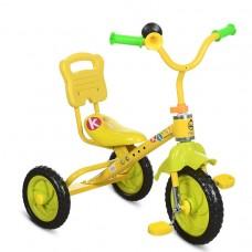 Детский Трехколесный Велосипед Гномик стальная рама, регулируемое сиденье, звоночек ProfiKids желтый арт. 1190