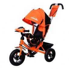 *Велосипед детский 3-х колёсный (фара, музыка), ТМ TILLY Camaro, колеса резиновые, оранжевого цвета арт. T-362