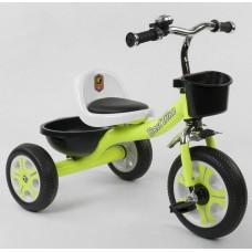 Детский Трехколесный Велосипед для детей Гномик со стальной рамой, колесами EVA, BestTrike салатовый арт. 3109