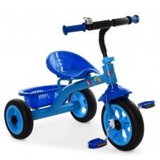 Велосипед Трехколесный Гномик: стальная рама, колеса EVA 8-10 дюймов, регулировка сиденья, синий - ProfiKids