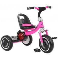 Детский трехколесный велосипед Гномик Turbotrike с музыкой, светящиеся колеса, регулировка сиденья, розовый