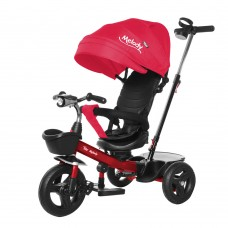 Велосипед Трехколесный с надувными колесами 8-10 дюймов, 2 тормоза музыкальная панель - Tilly Melody красный*