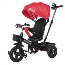 Велосипед Трехколесный с надувными колесами 8-10 дюймов родительская ручка, 2 тормоза - Tilly Canyon красный*