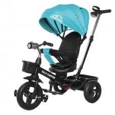 Велосипед Трехколесный с надувными колесами 8-10 дюймов родительская ручка, 2 тормоза - Tilly Canyon бирюзовый*