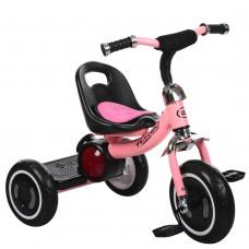 Детский трехколесный велосипед Гномик Turbotrike стальная рама, регулировка сиденья, с музыкой, светло-розовый