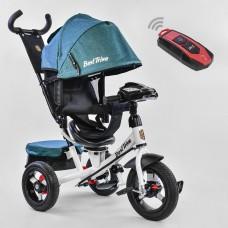 Велосипед детский 3-х колёсный (надувные колёса, поворотное сидение, фара), Best Trike, синий арт. 7700-6980