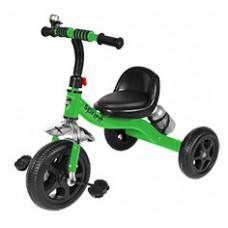 Детский Трехколесный Велосипед Гномик стальная рама, колеса EVA, сиденье со спинкой, Sprint ЗЕЛЕНЫЙ арт. 323