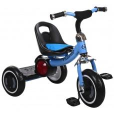 Детский велосипед Гномик трехколесный Turbotrike стальная рама, светящиеся колеса, регулировка сиденья голубой