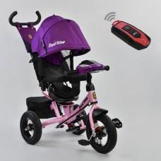 Велосипед детский 3-х колёсный (надувные колёса, поворотное сидение, фара), Best Trike, розовый арт. 7700-7599