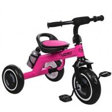Детский трехколесный велосипед Гномик Turbotrike стальная рама, светящиеся колеса EVA, розовый 73х56х48см