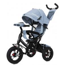 Велосипед Трехколесный с надувными колесами 10-12 дюймов, регулировка положения сиденья - Tilly Camaro серый*