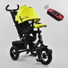Велосипед детский 3-х колёсный (надувные колёса, поворотное сидение, фара), Best Trike, желтый арт. 7700-7210