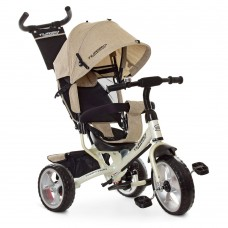 Детский Трехколесный Велосипед, съемная родительская ручка, руль 59-64 см, колеса EVA TurboTrike арт. 3113-9L*