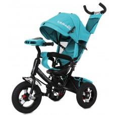 Велосипед Трехколесный с надувными колесами 10-12 дюймов, регулировка сиденья - Tilly Camaro темно-зеленый*