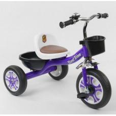 Детский Трехколесный Велосипед для детей Гномик со стальной рамой, колеса EVA, BestTrike фиолетовый арт. 1355