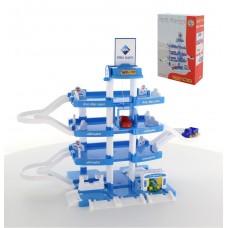 Детский Игровой Набор для мальчиков Парковка 4х уровневая Wader Aral лифт, 3 машинки 80х38х61 см арт. 46093