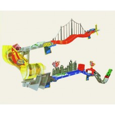 Детский Игровой Набор для мальчиков Стартовый Автотрек настенный Sprint Tracks 2 инерционные машины арт. 32463