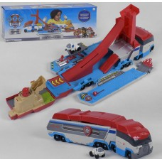 Игровой набор для мальчиков Автовоз Щенячий патруль: перевозчик и автотрек с запускающим механизмом и машинкой