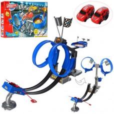 Детский Игровой Набор для Мальчиков от 5 лет Стартовый Автотрек с 2 машинками, размер 58х84 см, арт. 8899-81