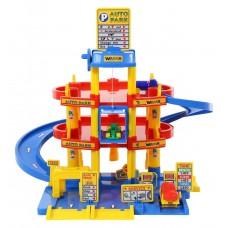 Игровой набор Парковка (гараж) 3х уровневая Wader , 3 машинки с лифтом арт. 37893