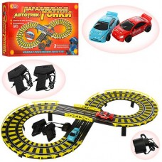 Детский Игровой Набор Автотрек Параллельные гонки, 2 машинки, 2 пульта управления, трасса 239 см, арт. 0809