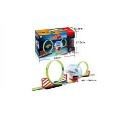 Игровой набор Трек с двумя инерционными машинками, размер трассы 222-25-28 см арт. 6688-231