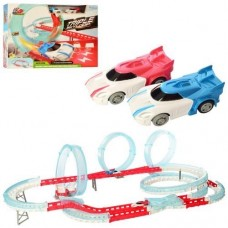 Детский Игровой Набор для мальчиков Трек с двумя машинками на батарейках, 83 детали, 110х61х26 см, арт. 3305